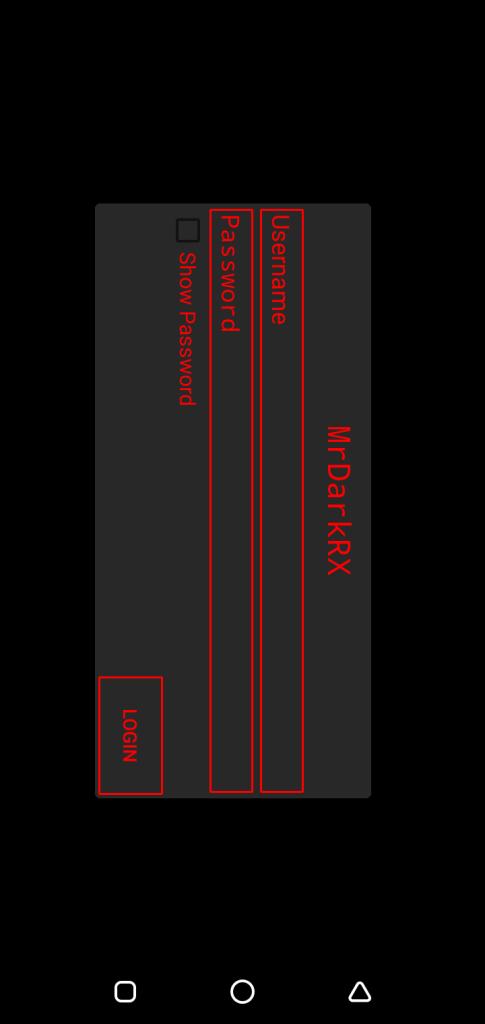 Screenshot of MRDARKRX App
