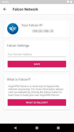 Screenshot of Argo VPN App