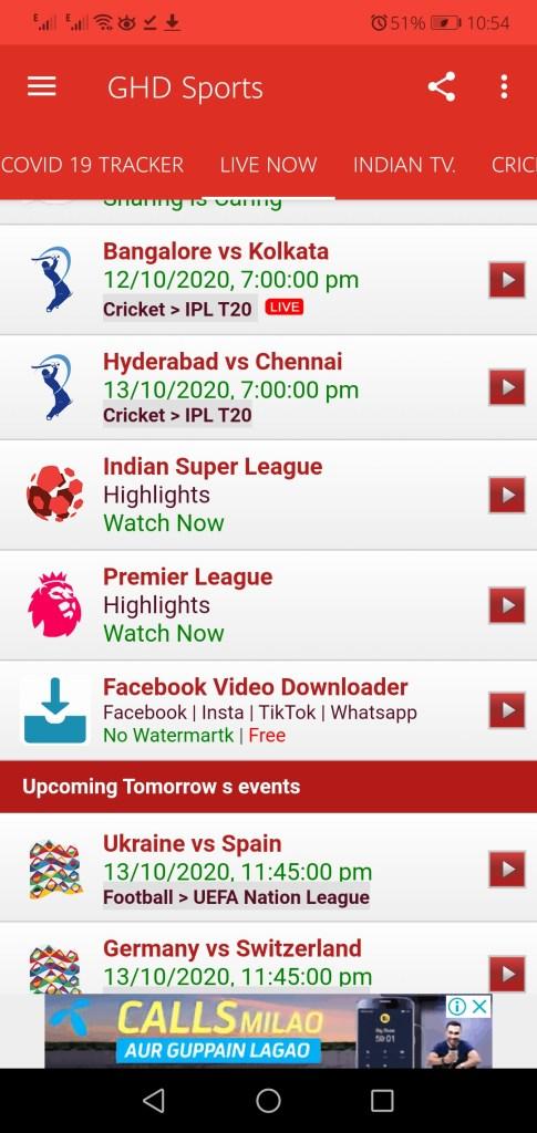 Screenshot of GHD Sports Mod App Apk