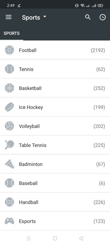 Screenshot of MelBet App