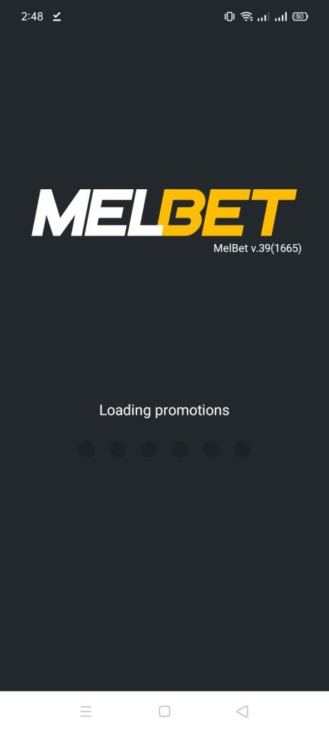 Screenshot of MelBet