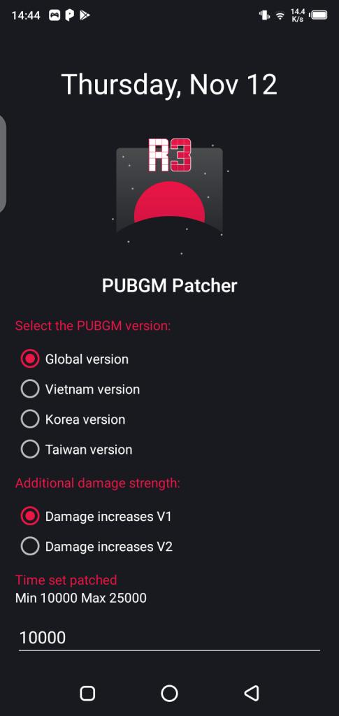 Screenshot of R3 PUBG Patcher App Apk