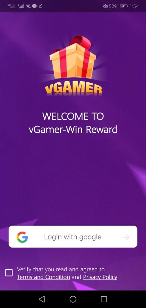 Screenshot of VGamer App