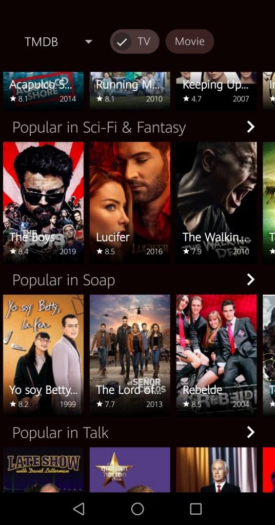 Screenshot of Voot Select Mod App
