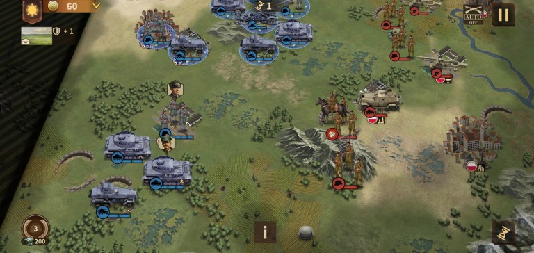 Screenshot of Glory of Generals 3 Game For Android