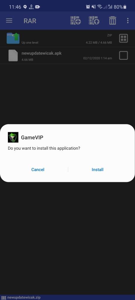 Screenshot of Game VIP