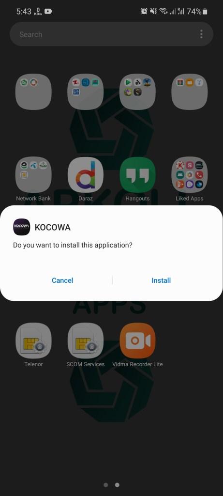 Screenshot of Kocowa