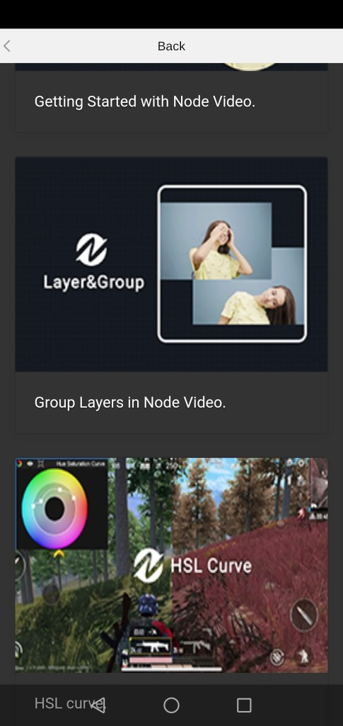 Screenshot of Node Video App