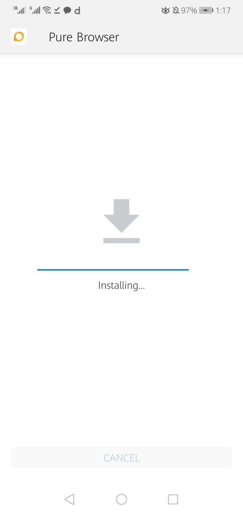 Screenshot of Pure Browser Pro