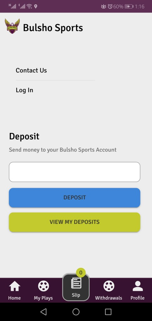 Screenshot of Bulsho Sports  App Apk