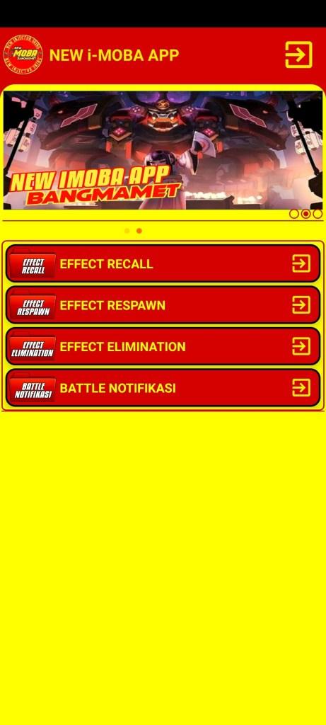 Screenshot of New IMOBA App