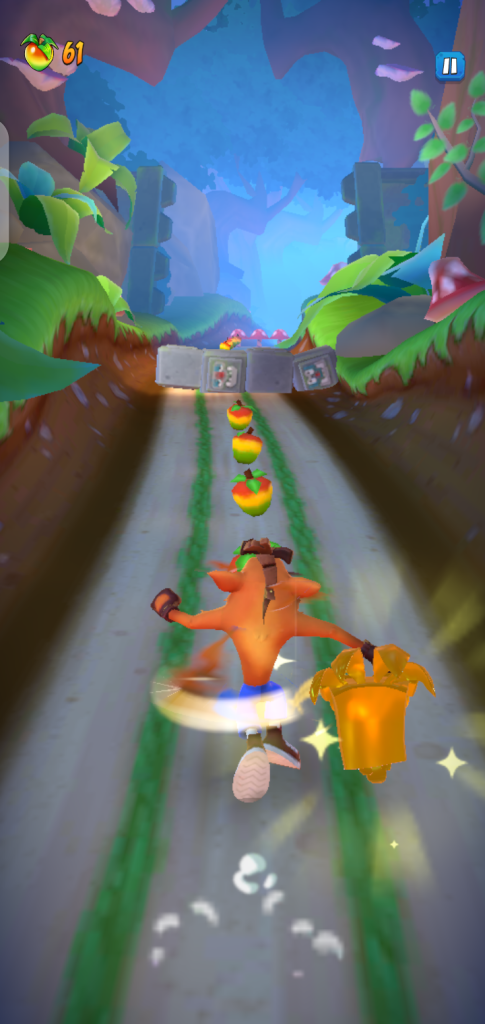 Screenshot of Crash Bandicoot on The Run App