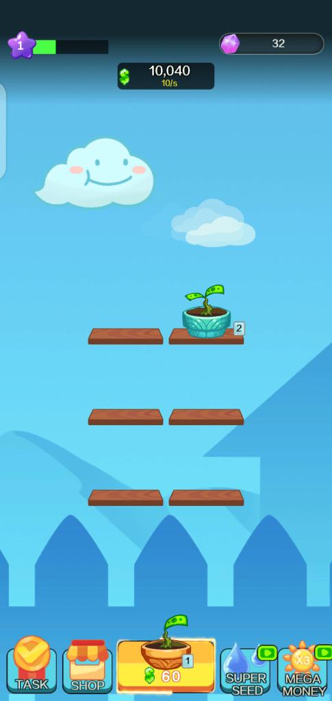 Screenshot of Money Garden App