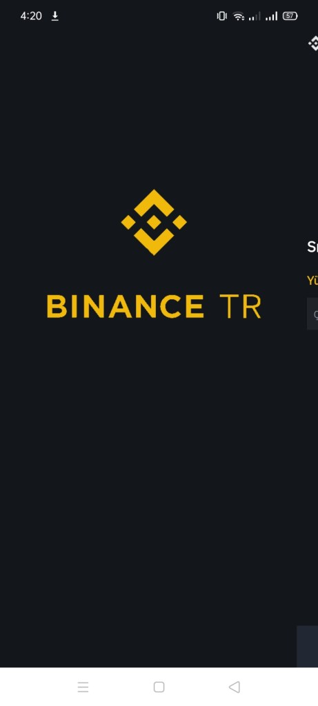 Screenshot of Binance TR