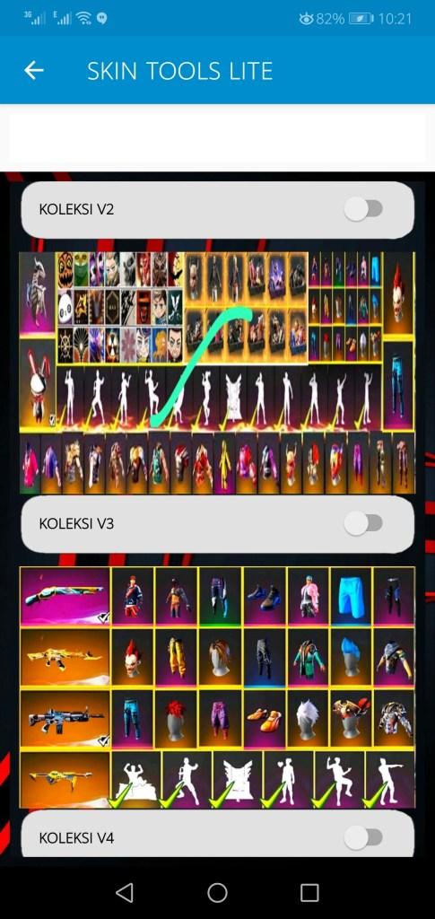 Screenshot of Skin Tools Lite Apk