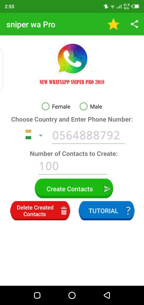 Screenshot of Sniper WhatsApp Pro