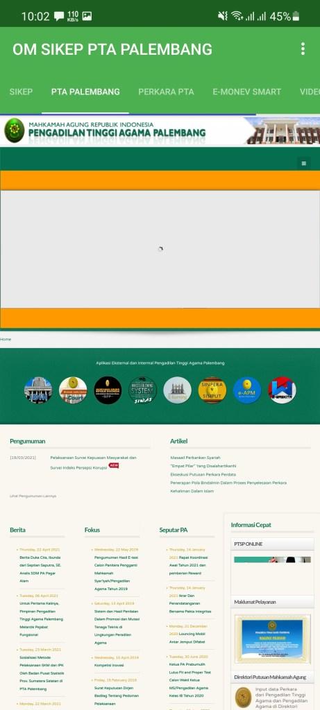 Screenshot of Sikep Mahkamah Agung Apk