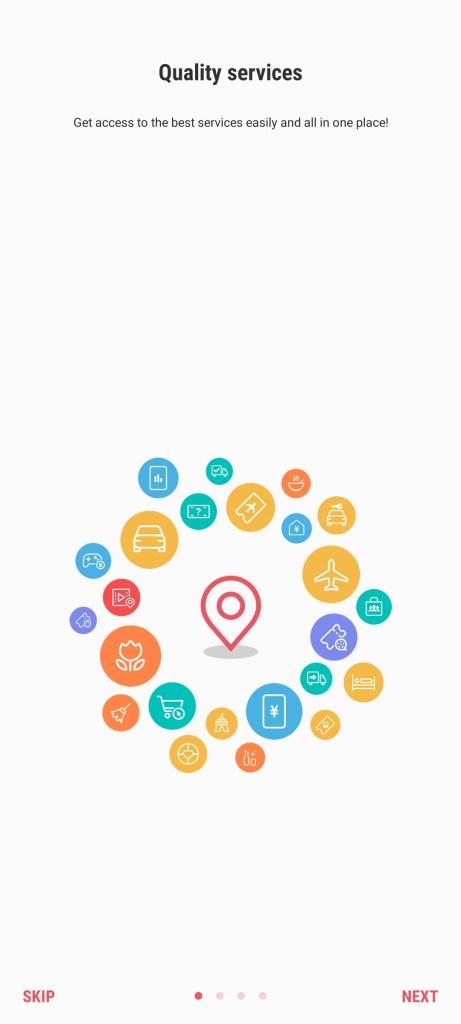 Screenshot of Samsung Assistant App