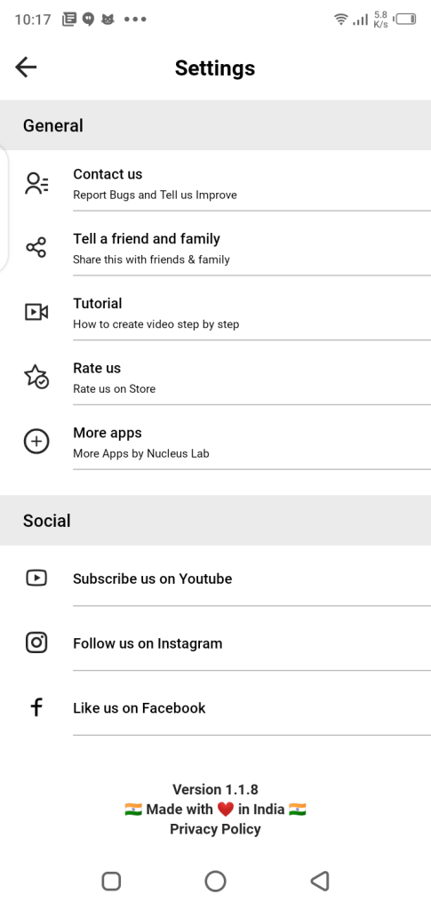 Screenshot of Story Bit App