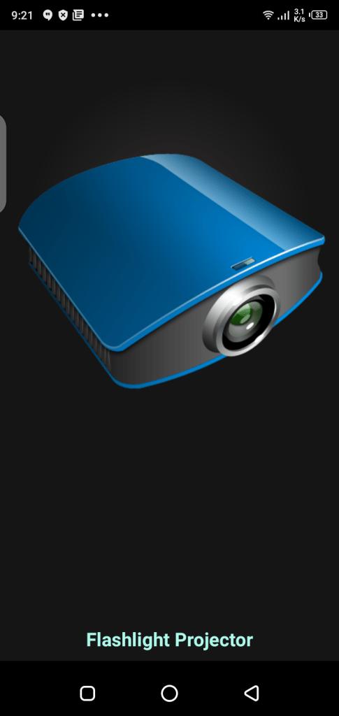 Screenshot of Flashlight Video Projector