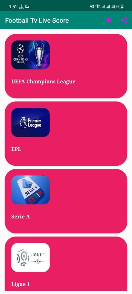 Screenshot of Football Live Score Tv Apk