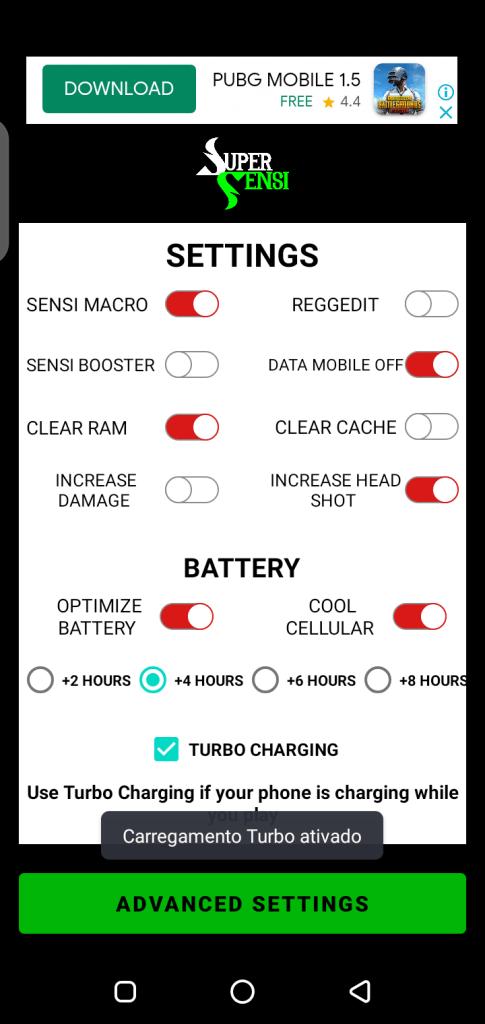 Screenshot of SUPER SENSI App