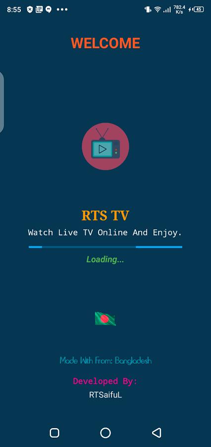 Screenshot of RTS TV