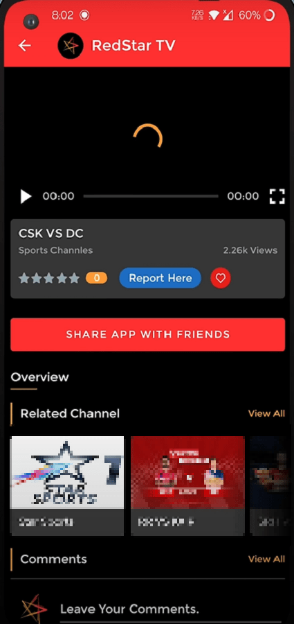 Screenshot of RedStar TV  For Android