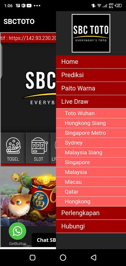Screenshotof SBC Toto App Apk