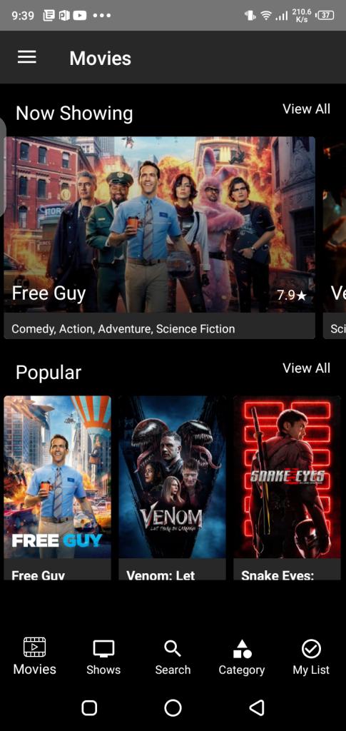 Screenshot of Tyflex Plus App
