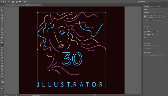 Adobe Illustrator CC 2018 pencil art