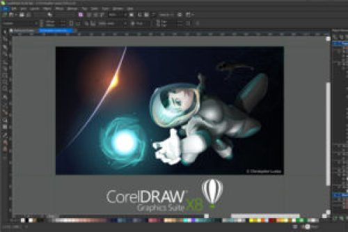 CorelDRAW Graphics Suite X8 Space Image editing