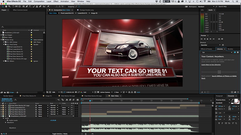 Adobe After Effects CC 2015 video processing