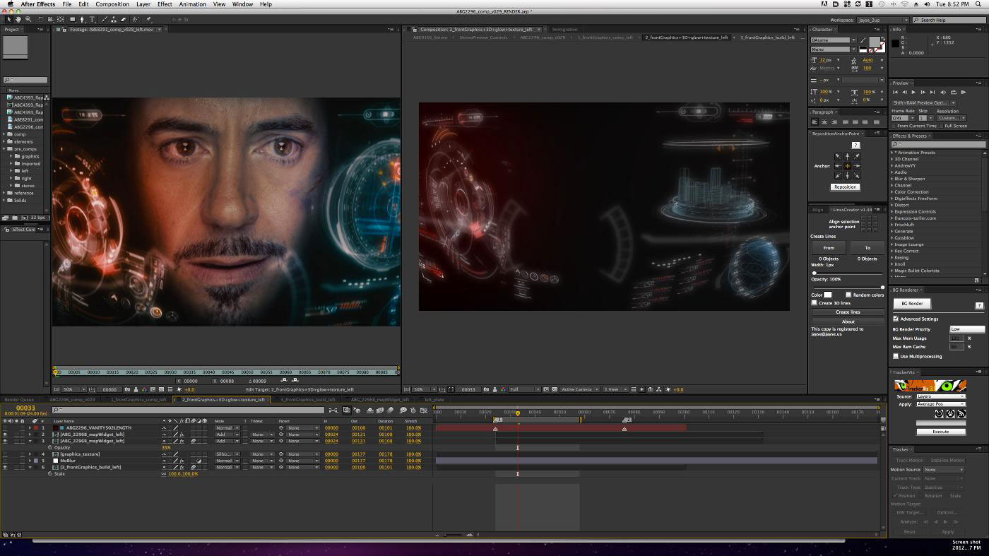 Adobe After Effects CS6 iron man editing
