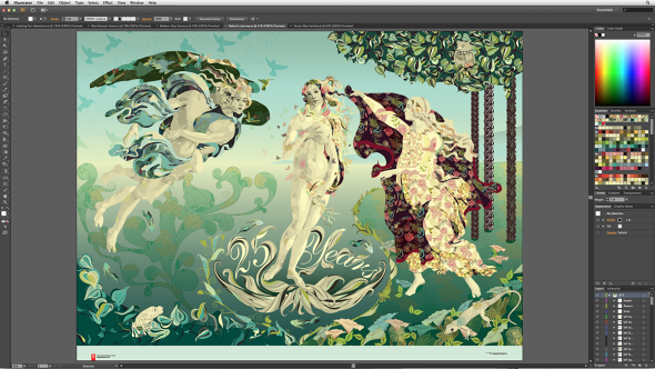 Adobe Illustrator CS6 tradional editing