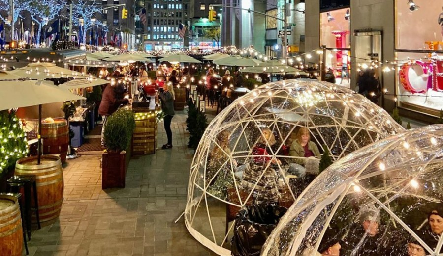 City Winery Just Reopened Their Cozy Winter Igloos At Rockefeller Plaza -  Secretnyc