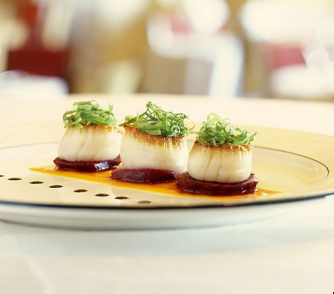 Scallops at Churchill Restaurant