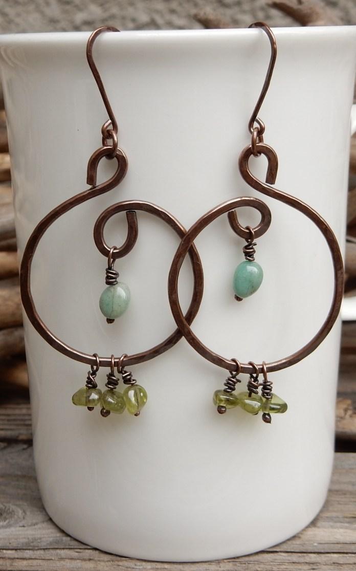 Swirl Hoop Earrings by Off on a Whim