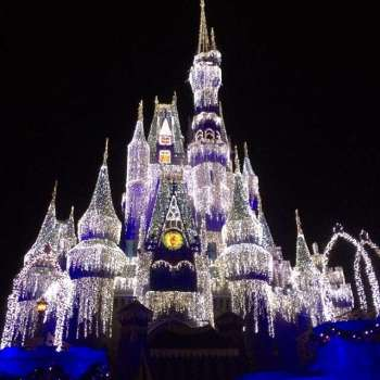 Cinderella Castle lights