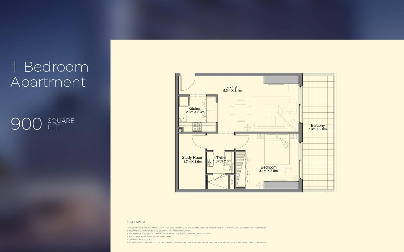 MAG 318 In Downtown Dubai Floor Plans