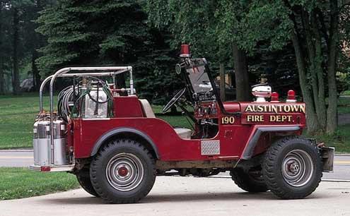 Willys Cj3b Jeep Firetruck Video