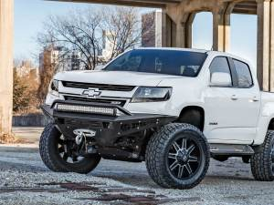Chevy Colorado HoneyBadger front bumper with Winch Mount and 30 inch LED bar on top