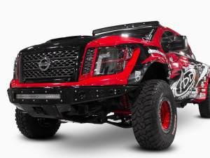 Nissan Titan Venom R front bumper in hammer black with satin black panels