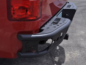 "2007.5 - 2013 GMC Sierra 1500 Dimple ""R"" rear bumper set up for duallys with back up sensor holes cut in panels in Raw - No Color"