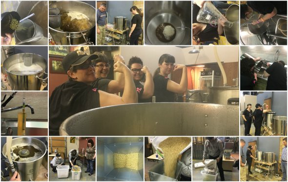Brewing to benefit Pink Boots Society | Big Boots Brew day at SomePlace Else Brewery