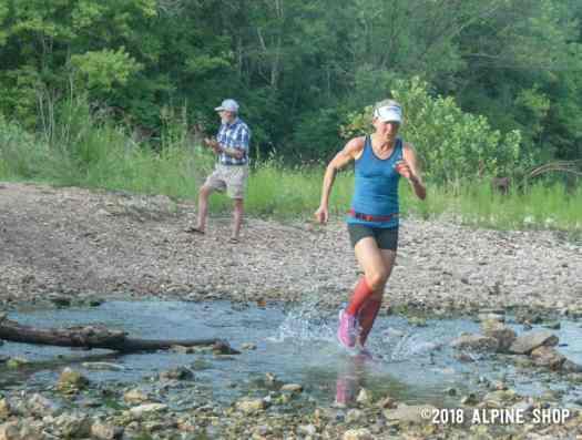 Women's Masters winner Susan Richmond on her way to her fifth straight Trail Run Series victory in the 50+ division