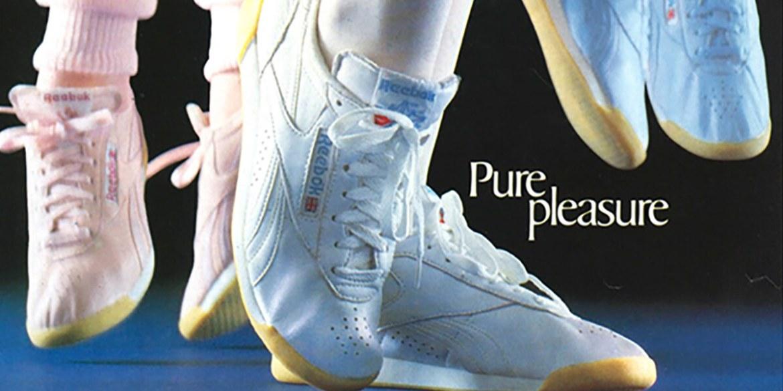 First women's sneakers, Reebok Freestyle 1982