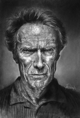 Clint Eastwood by Huy Chau