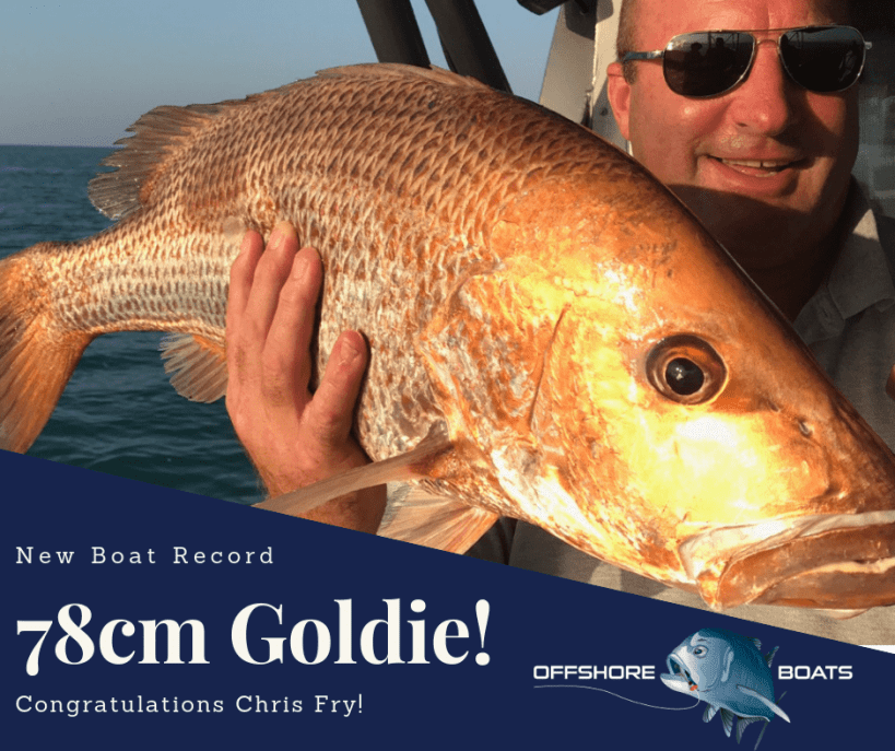 Golden Snapper boat record with Offshore Boats