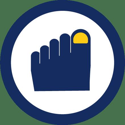 In-grown toenails